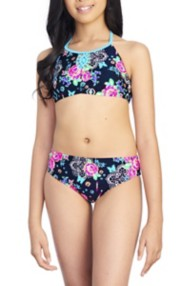 Youth Girls' Breaking Waves Arizona Garden Bikini Set