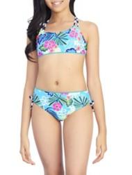 Youth Girls' Breaking Waves Twinning Bikini Set