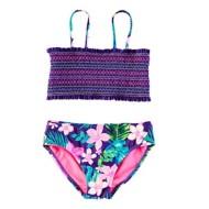 Preschool Girls' Breaking Waves Hawaiin Time 2 Piece Bikini Set