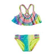 Preschool Girls' Breaking Waves Rainbow Medallion 2 Piece Bikini Set