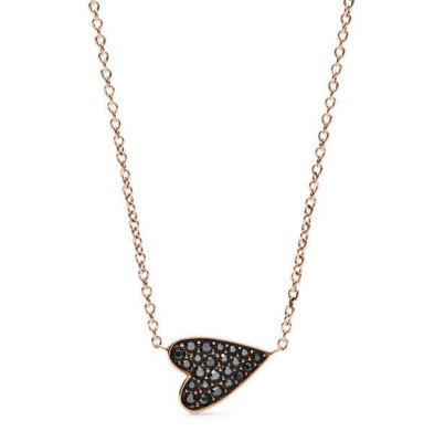 Women's Fossil Heart Rose Gold Stainless Steel Necklace