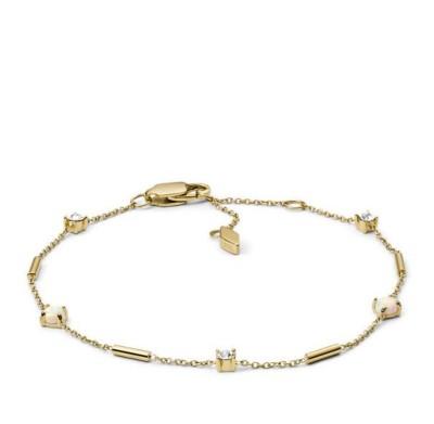 Women's Fossil Iridescent Stainless Steel Bracelet