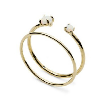 Women's Fossil Duo iridescent Stainless Steel Rings
