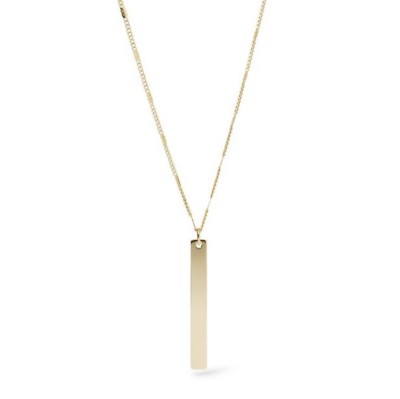 Women's Fossil Long Bar Necklace