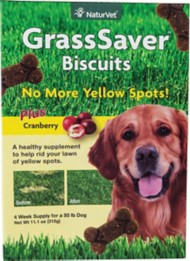 NaturVet GrassSaver Peanut Butter Flavored Biscuits for Dogs