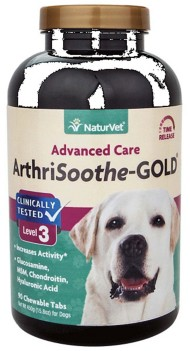 NaturVet ArthriSoothe-Gold Advanced Care Chewable Tablets