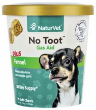 NaturVet No Toot Gas Aid Chews for Dogs