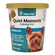 NaturVet Quiet Moments Plus Melatonin Soft Pet Chews