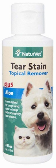 NaturVet Tear Stain Topical Remover Plus Aloe for Dogs and Cats