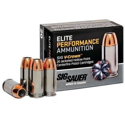 Sig Elite Performance 9mm 124gr V-Crown JHP 20/bx