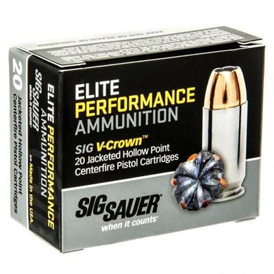 Sig Elite Performance 45 ACP 230gr V-Crown JHP 20/bx