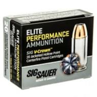 Sig Elite Performance 9mm 147gr V-Crown JHP 20/bx