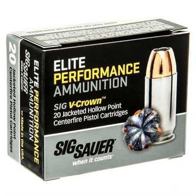 Sig Elite Performance 44 SPL 200gr V-Crown JHP 20/bx