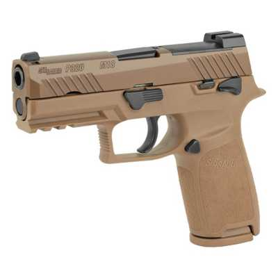 SIG SAUER P320 M18 Coyote Tan Compact 9mm Pistol with Safety