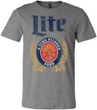 Mens Brew City Miller Lite Vintage Logo T-Shirt