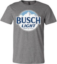 Mens Brew City Busch Light Logo T-Shirt