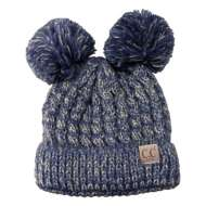Youth Girls' C.C Double Poms Beanie