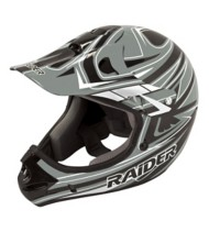 Adult Raider Rush MX Grey and Black Helmet