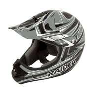 Adult Raider Rush MX Grey and Black Helmet