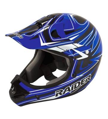 Adult Raider Rush MX Blue and Black Helmet