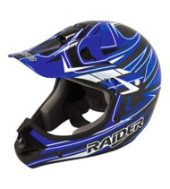 Adult Raider Rush MX Blue and Black Helmet