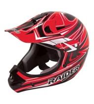 Adult Raider Rush MX Red and Black Helmet