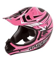 Adult Raider Rush MX Pink and Black Helmet