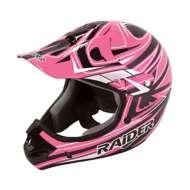 Adult Raider Rush MX Pink and Black Helmet