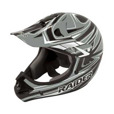 Youth Raider MX-II Grey and Black Helmet