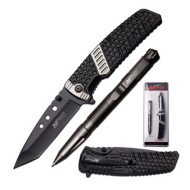 Master Cutlery Tactical Knife and Tactical Pen Combo