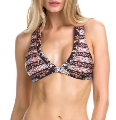 Women's Becca Floral Cottage Reversible Halter Bikini Top