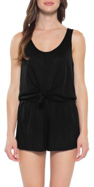 Women's Becca Breezy Knot-Tie Swim Romper Cover Up