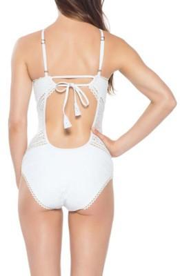 Women's Becca Rickrack High Neck One Piece Swimsuit