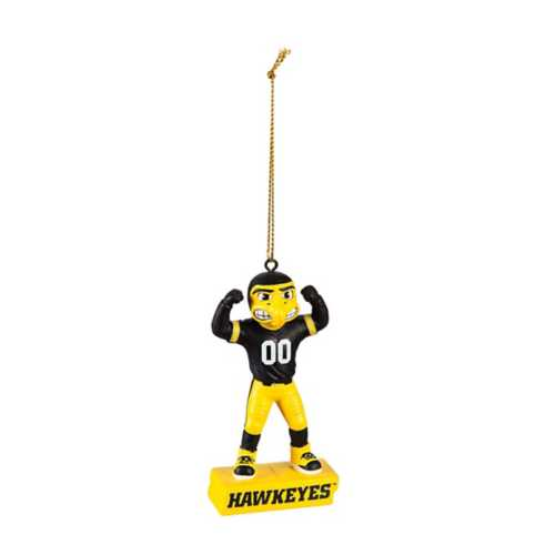 Evergreen Iowa Hawkeyes Mascot Statue Ornament