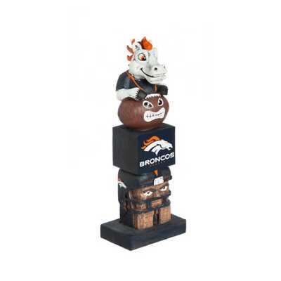 "Evergreen Denver Broncos Tiki Totem 16"" Garden Statue"