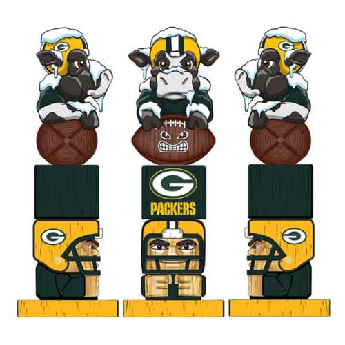 "Evergreen Green Bay Packers Tiki Totem 16"" Garden Statue"