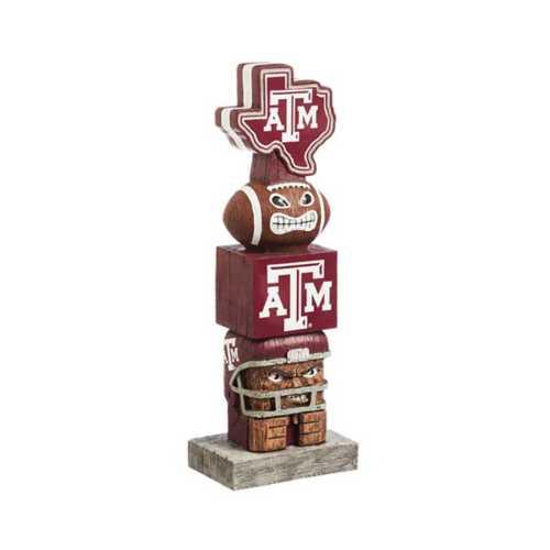 "Evergreen Texas A&M Aggies Tiki Totem 16"" Garden Statue"