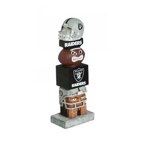"Evergreen Las Vegas Raiders Tiki Totem 16"" Garden Statue"