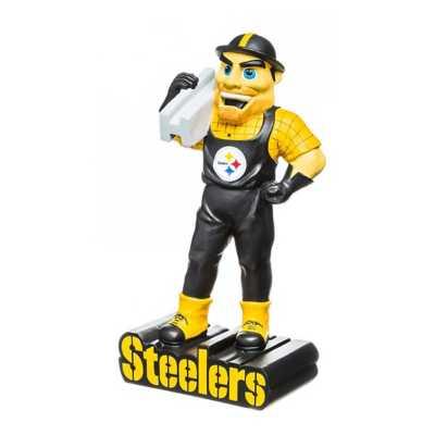 "Evergreen Pittsburgh Steelers Mascot 12"" Garden Statue"