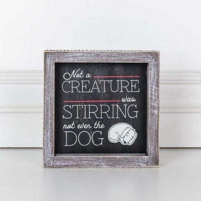 Adams & Co. Stirring Dog Sign
