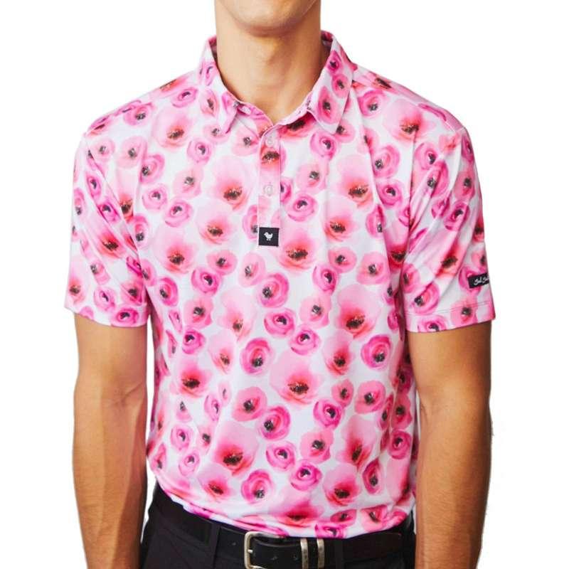 Men's Bad Birdie Bouquet Golf Polo