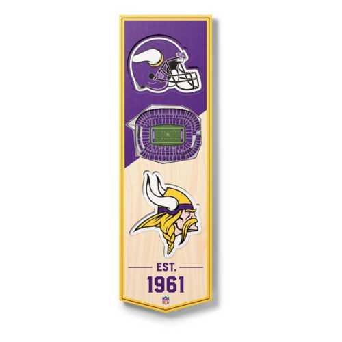Wildman/Sportula Minnesota Vikings 3D Stadium Ornament