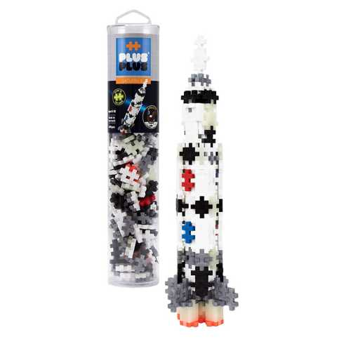 Plus Plus Mini Maker Tube Saturn V Rocket Building Kit