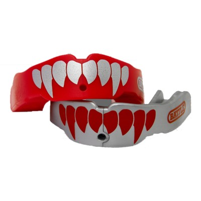Adult Battle Red/Silver Fang Mouthguard 2 Pack