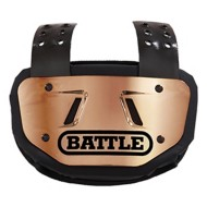 Youth Battle Chrome Football Back Plate