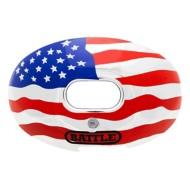 Adult Battle Oxygen American Flag Chrome Football Mouthguard