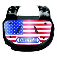 Adult Battle American Flag Chrome Football Back Plate