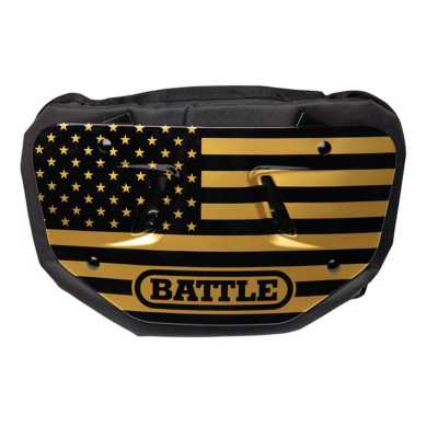 Youth Battle American Flag Chrome Football Back Plate