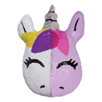 Girls' Iscream Mini Unicorn Reversible Sequin Pillow