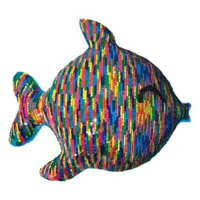 Girls' Iscream Rainbow Fish Reversible Sequin Pillow